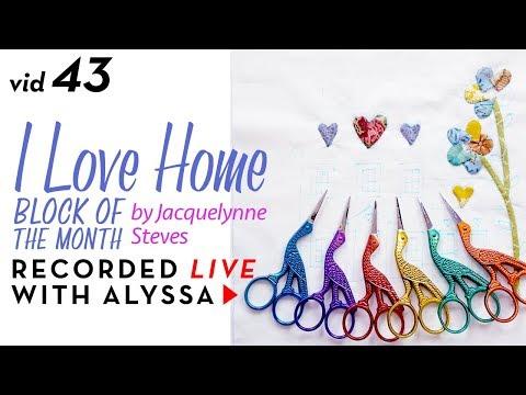 "Needle Turn Appliqué Petals Block 4 - Vid 43 ""I Love Home"" BOM - Designer Series #RelaxAndCraft"
