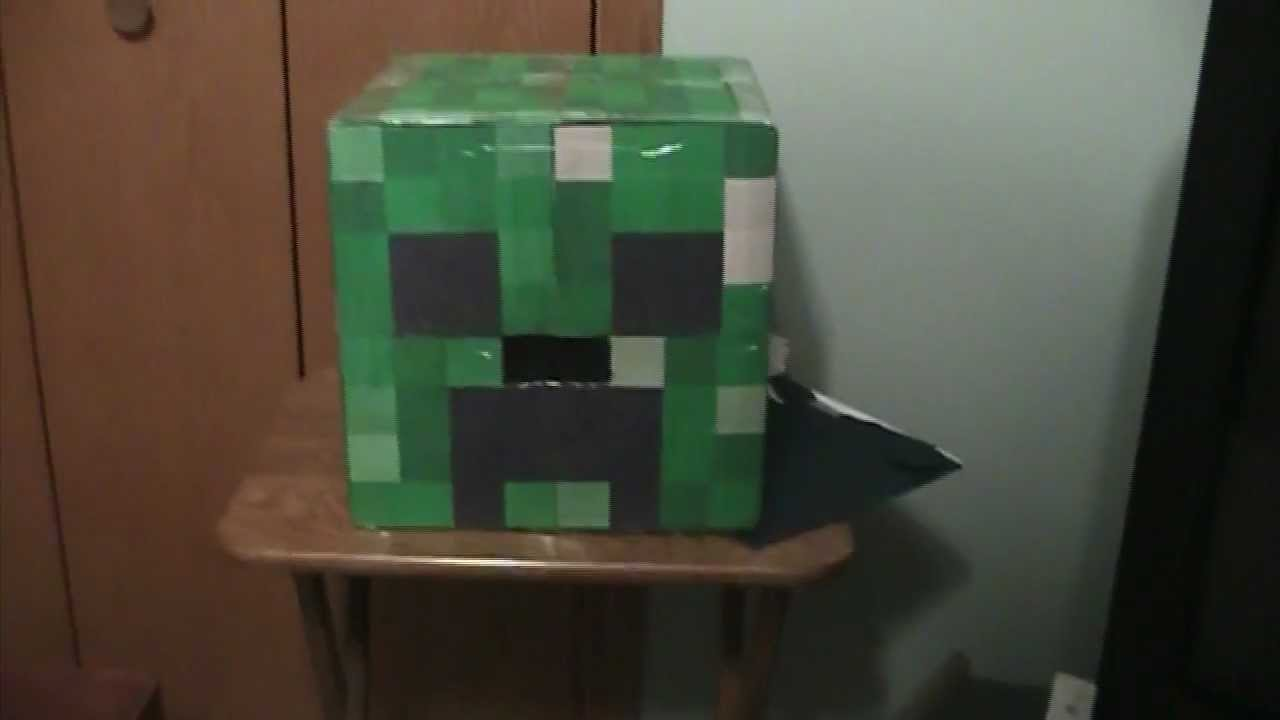 How to Make a Minecraft Creeper Head out of Cardboard & How to Make a Minecraft Creeper Head out of Cardboard - YouTube
