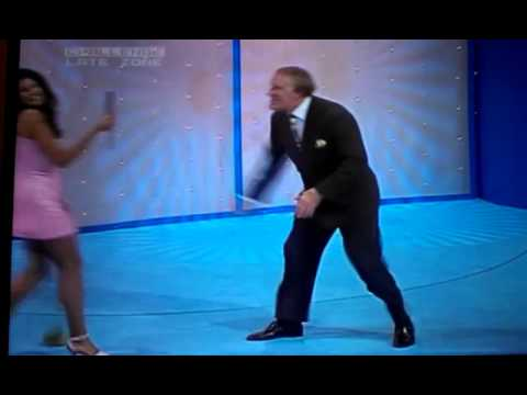 Brucie shoves a female assistant on Bruce's Price Is Right