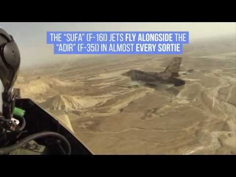 "The ""Adir"" (F-35I) & ""Sufa"" (F-16I) Fly Together"