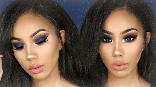 GRWM | Poppin' Blue Holiday Makeup Tutorial for Beginners