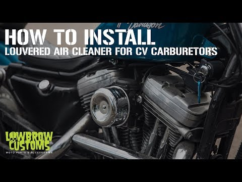 How To Install - Louvered Air Cleaner for CV Carburetors on a Harley-Davidson Sportster