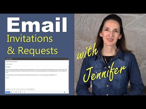 Email: Invitations and Requests - Improve Your English Writing Skills