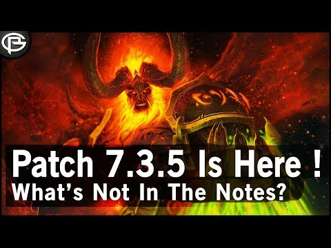 7.3.5 Tomorrow! - What's Not in the Patch Notes?