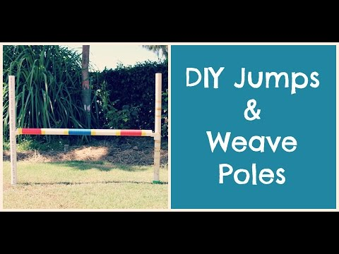 How To Make Dog Agility Jumps/ Weavers | TheDogBlog