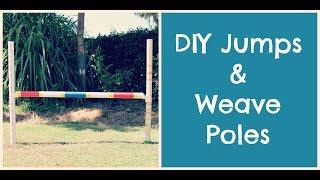 How To Make Dog Agility Jumps/ Weavers   Thedogblog