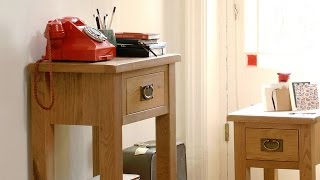 Salisbury Petite Oak Telephone Table - Pinesolutions