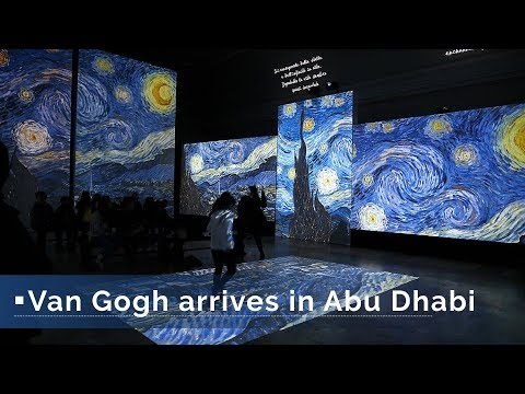 "Live: Van Gogh arrives in Abu Dhabi多媒体感映""复活""梵高经典"