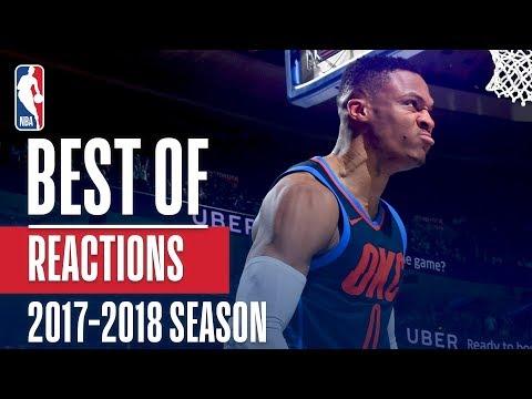 Best Reactions of the 2017-2018 NBA Season!   LeBron, Lance Stephenson, Damian Lillard and more!