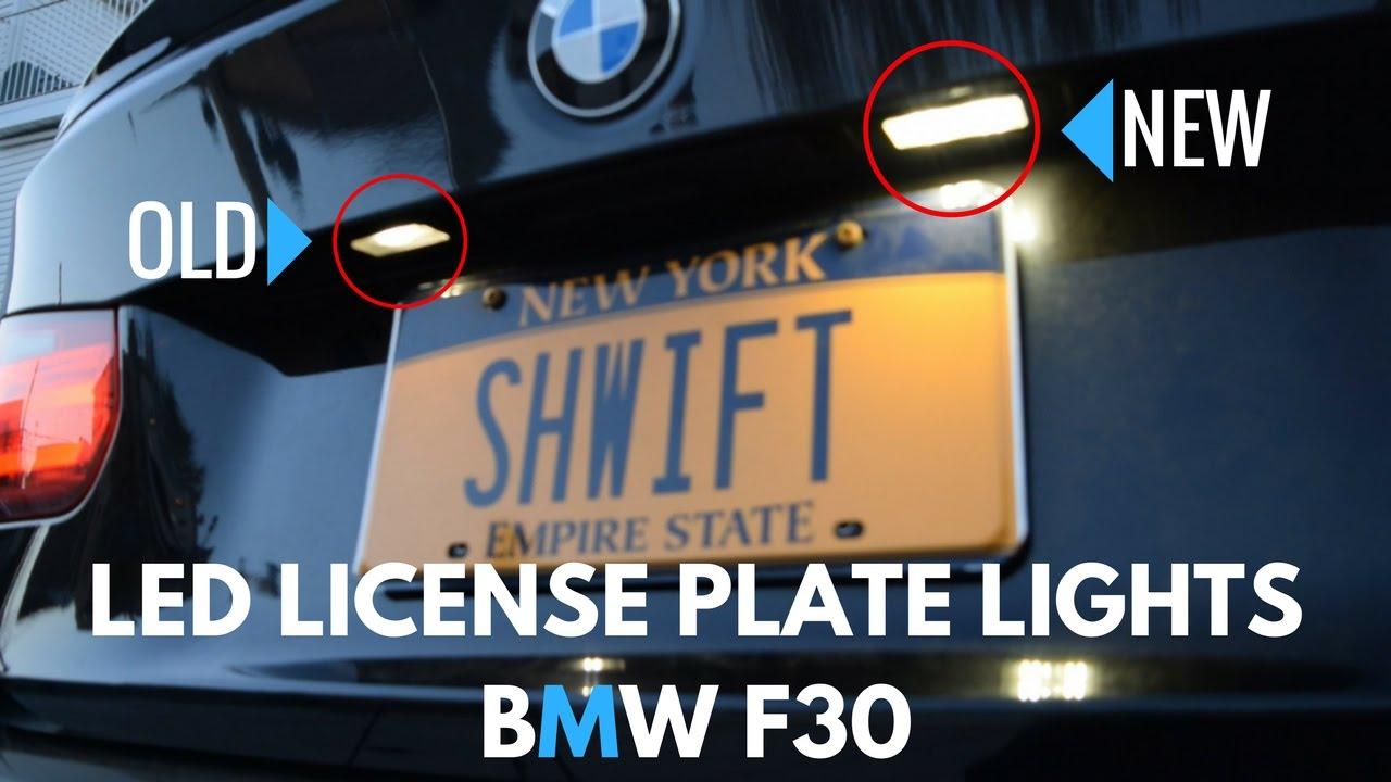 Upgrading My LED License Plate Lights! (BMW F30)