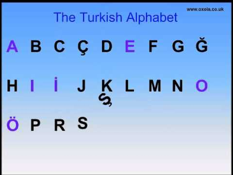 The Turkish Alphabet _ A Free Turkish Language Tutorial by OXOLA Apps!