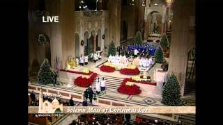 """Midnight Mass"" Basilica of the National Shrine of the Immaculate Conception 12-24-2012"