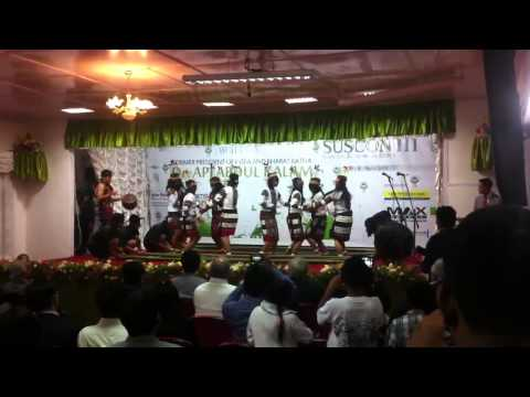 Northeast traditional bamboo dance performed at the IIM Shi