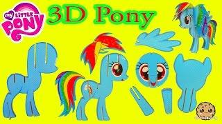 Create Build A 3D My Little Pony Rainbow Dash MLP Craft Kit - Cookieswirlc Video