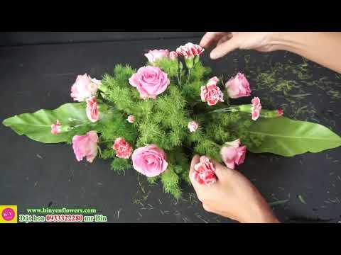 Cách Lẳng hoa Để Bàn HOA CẨM CHƯỚNG (carnations)| Dạy cắm hoa online
