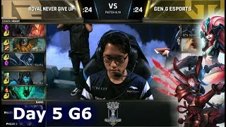 RNG vs GEN | Day 5 Group Stage S8 LoL Worlds 2018 | Gen.G vs Royal Never Give Up