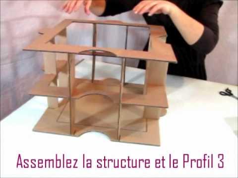 Montage Du Kit De Meuble En Carton Huzzle  Etape   Youtube