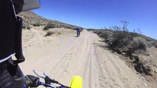 Stoddard Valley sandy wash. YZ 250/Husqvarna 610.