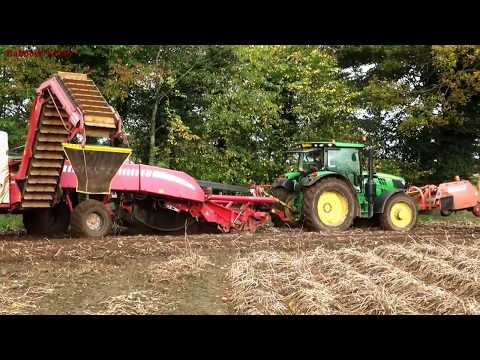 Harvesting Potatoes with TWO Harvesters.  Fendt, John Deere and New Holland Action.