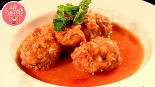 Meatballs in Tomato Sauce (Tefteli) - Russian Food - Тефтели в томатном соусе