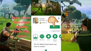 How To Download FORTNITE in Unsupported Devices From Play Store 100% Working Free