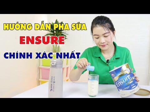 Hướng dẫn cách pha sữa ENSURE chính xác nhất và những lưu ý khi sử dụng!