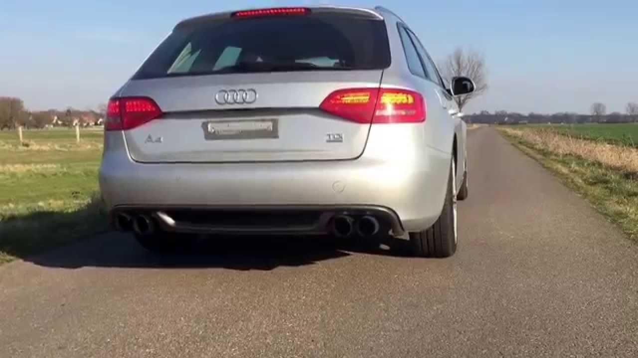 Audi A4 B8 30 Tdi Quattro Exhaust Youtube