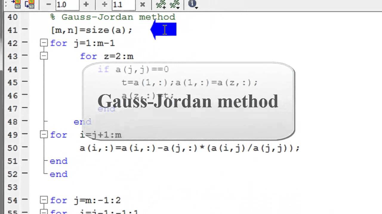 Gauss elimination and Gauss Jordan methods using MATLAB