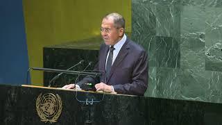 С.Лавров на общеполитической дискуссии 74-й сессии ГА ООН, Нью-Йорк, 27 сентября 2019 года