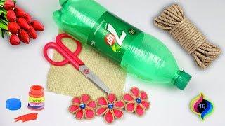 DIY Jute flower vase making // Beautifu flower vase making with Jute and Plastic bottle