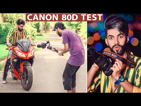 Canon 80d image and Video Quality Test & Samples on Live Photoshoot with Heavy Bike