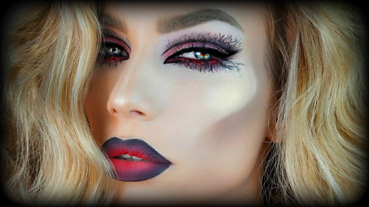 Halloween Makeup Tutorial GLAM VAMPIRE - YouTube