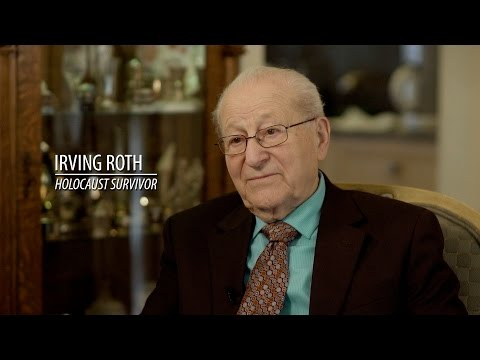 the horrifying account of the holocaust through the experiences of irving roth Irving roth, director, holocaust resource center, temple judea of manhasset, new york, speaks during the holocaust observance at rock island arsenal, illinois, april 21.