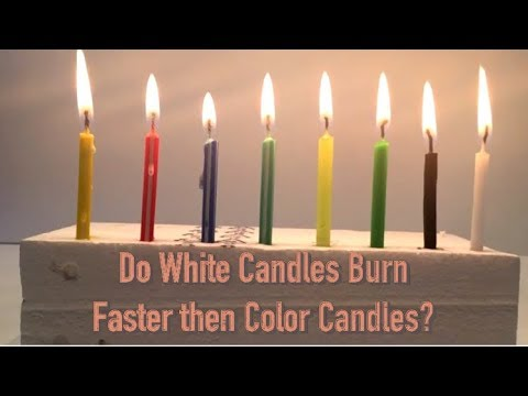 Do White Candles Burn Faster then Color Candles? (What makes a ...