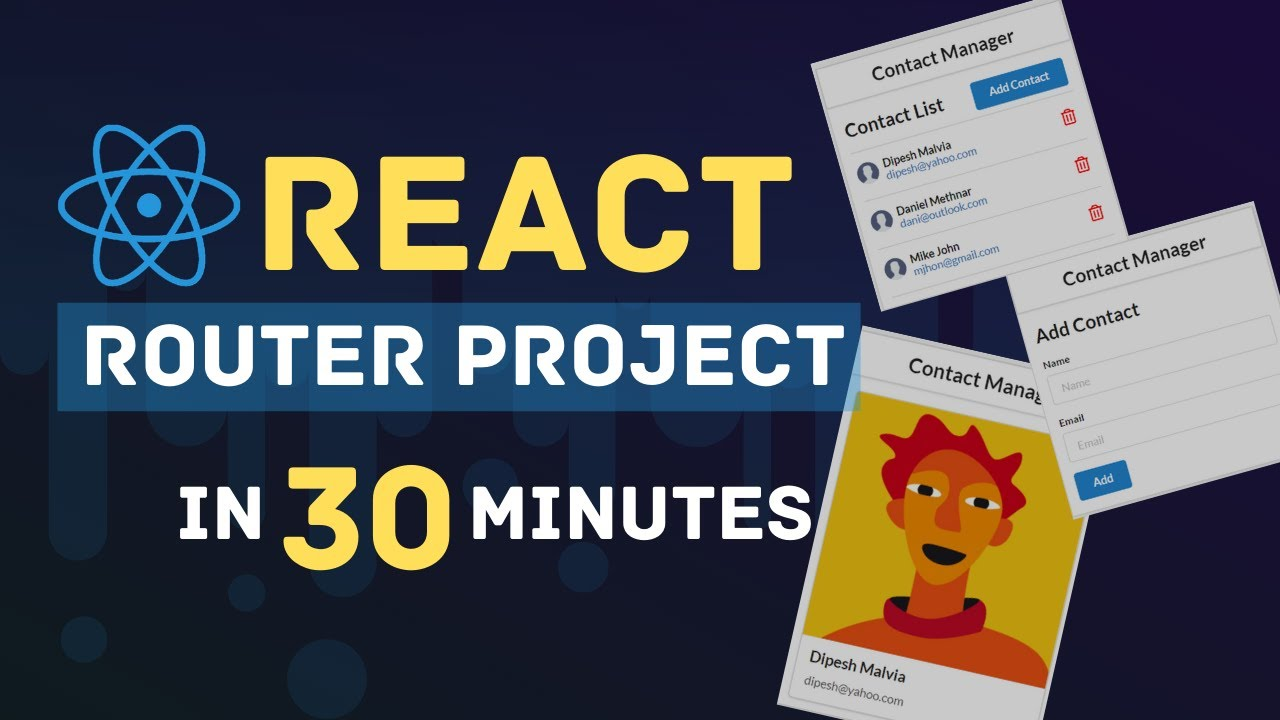 Learn React Router With Project   React Router Tutorial   React Tutorials for Beginners