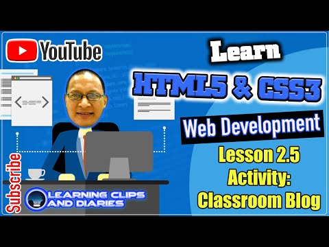 Learn HTML5 Cluster 19 - Classroom Blog