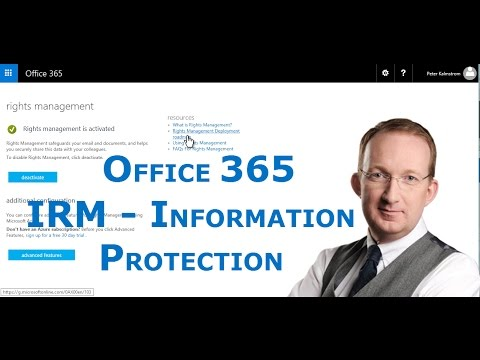 Office 365 Information Rights Management Settings