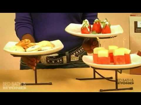 b. smith expandable three-tier server at bed bath & beyond - youtube