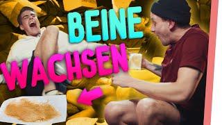 BEINE WACHSEN | Robert & Sebastian SCHREIEN vor SCHMERZ | Roberts Resterampe