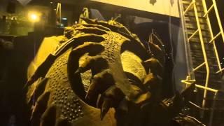 قناة السويس الجديدة : فيديو ليلى حصرى  مفاجأة لرأس الكراكة العملاقة الاماراتية المرفأ