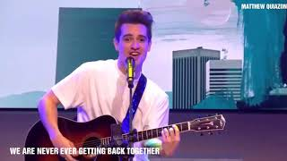 Brendon Urie (Panic! At The Disco) singing Taylor Swift songs.