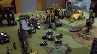 Warhammer 40k - Imperial Fists vs Iron Hands - 40k Battle Report and 40k Tactics