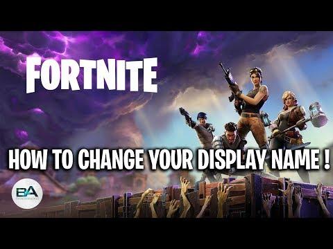 How to change your display name on Fortnite ! [ SEASON 7 ...
