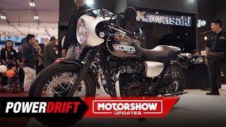 Kawasaki W800 Cafe : The Japanese Bullet : GIIAS 2019 : PowerDrift