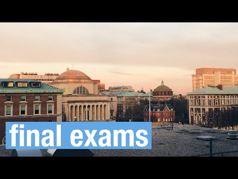 finals week | study with me | columbia university | vlog 15