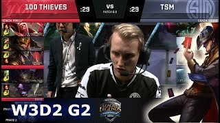 Video 100 Thieves vs TSM | Week 3 Day 2 of S8 NA LCS Spring 2018 | 100 vs TSM W3D2 G2 download MP3, 3GP, MP4, WEBM, AVI, FLV Juni 2018