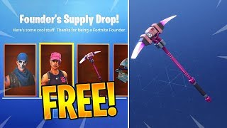 "*NEW* How to Unlock FREE ""FOUNDERS PICKAXE AND GLIDER"" in Fortnite (FOUNDERS SKIN BUNDLE)"