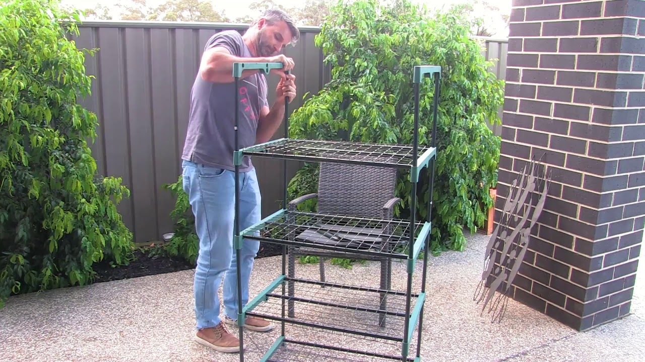 Mini Green House From Bunnings Put Together Greenhouse Unboxing And Assembly Youtube Backyard farmer greenhouse bunnings