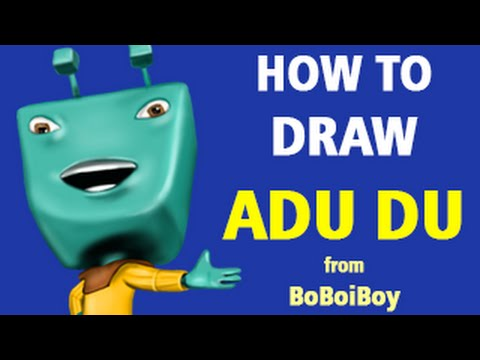 How to draw adu du from boboiboy speed painting youtube for How to build an adu