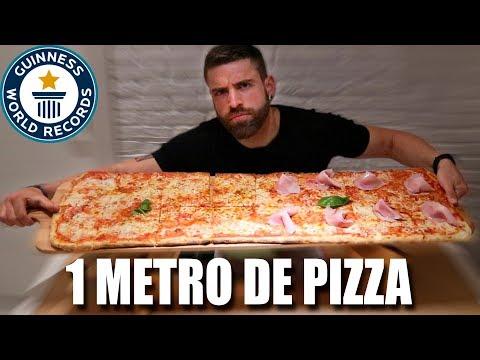 UNA PIZZA DE 1 METRO EN TIEMPO RECORD POR 1 PERSONA